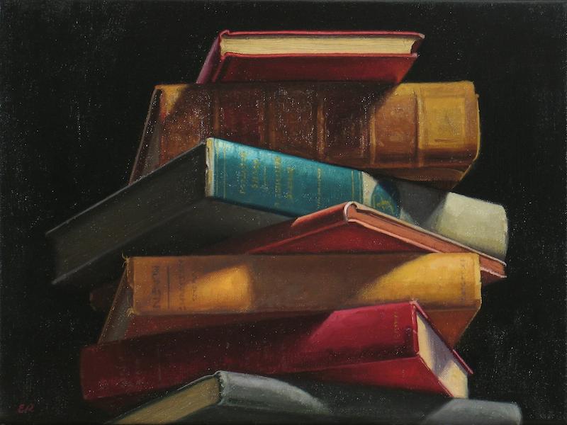 Ephraim Rubenstein's Book Pile XXXI (detail)