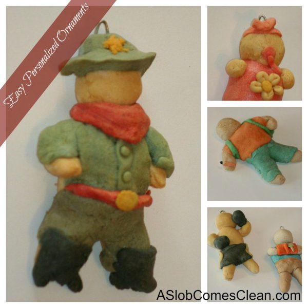 Salt Dough Christmas Ornaments Personalized
