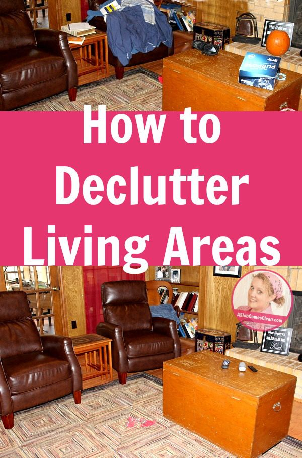 how to declutter living