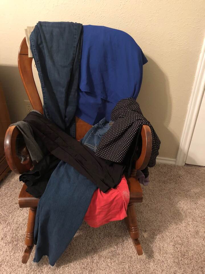 bedroom chair for clothes baby high cost where to put that are worn but not dirty a slob comes clean the sat in corner of my and was unintended totally official place things i might wear later