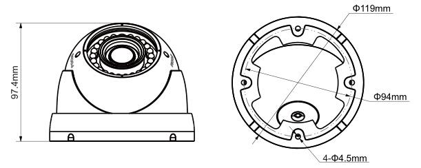Camera de exterior HDCVI 1 Megapixel Dahua HAC-HDW1100R-VF