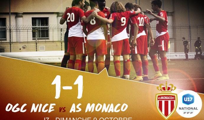 Academy : 1-1 pour les U17 face à l'OGC Nice
