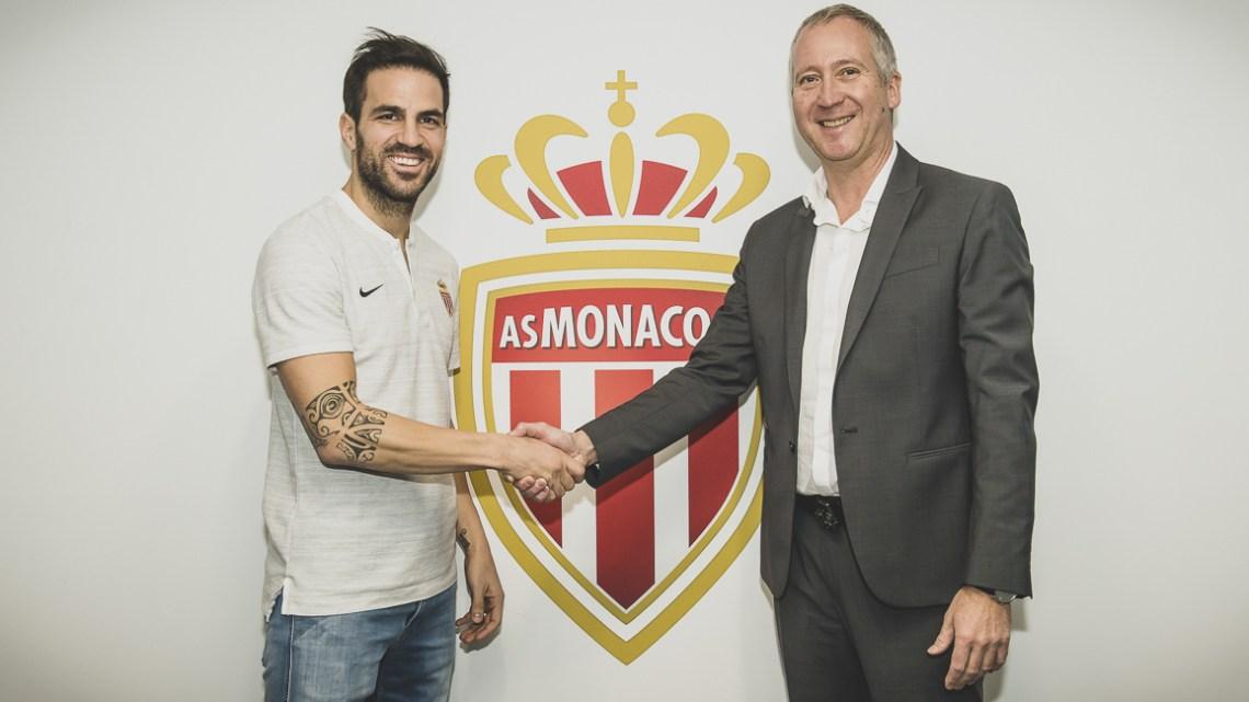 Officiel : Cesc Fabregas rejoint l'AS Monaco