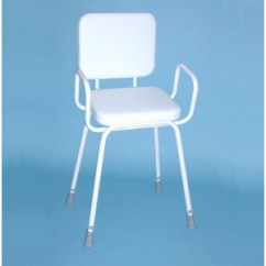 Shower Chair With Arms And Backrest Mobile Barber Wren Perching Stool & Padded - Asm Medicare