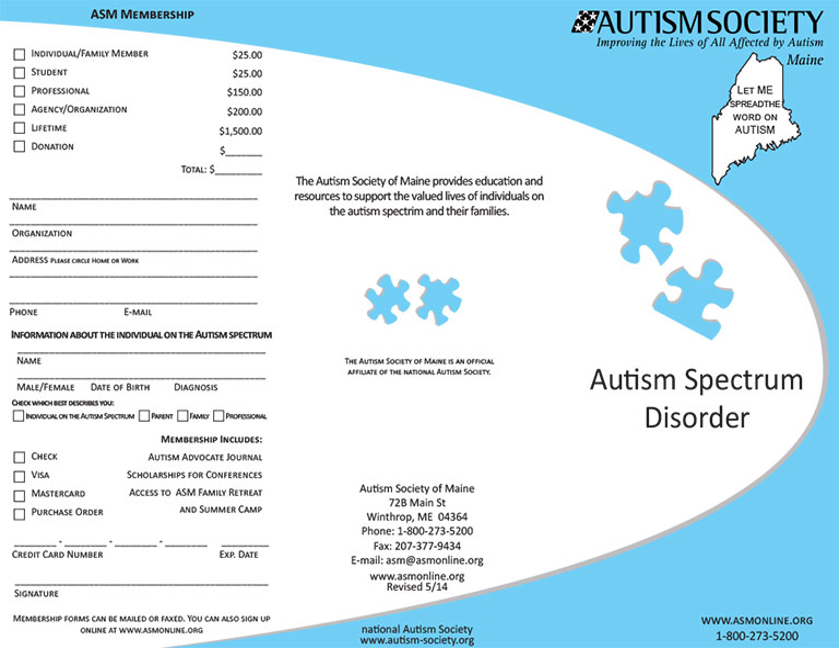 Autism Society Of Maine Autism Spectrum Disorders Autistic
