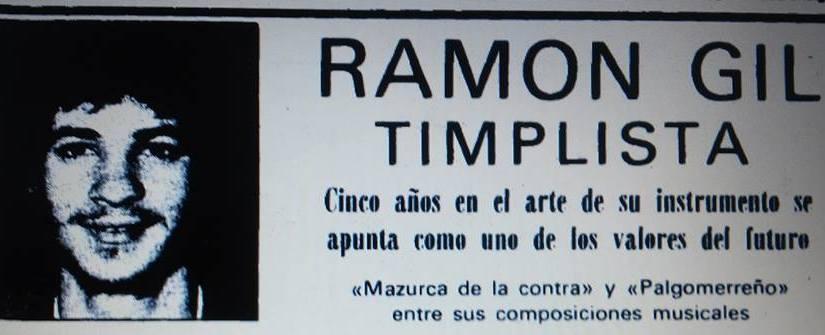 Ramón Gil,entrevista en el periódico El Eco de Canarias el 09/05/1980.