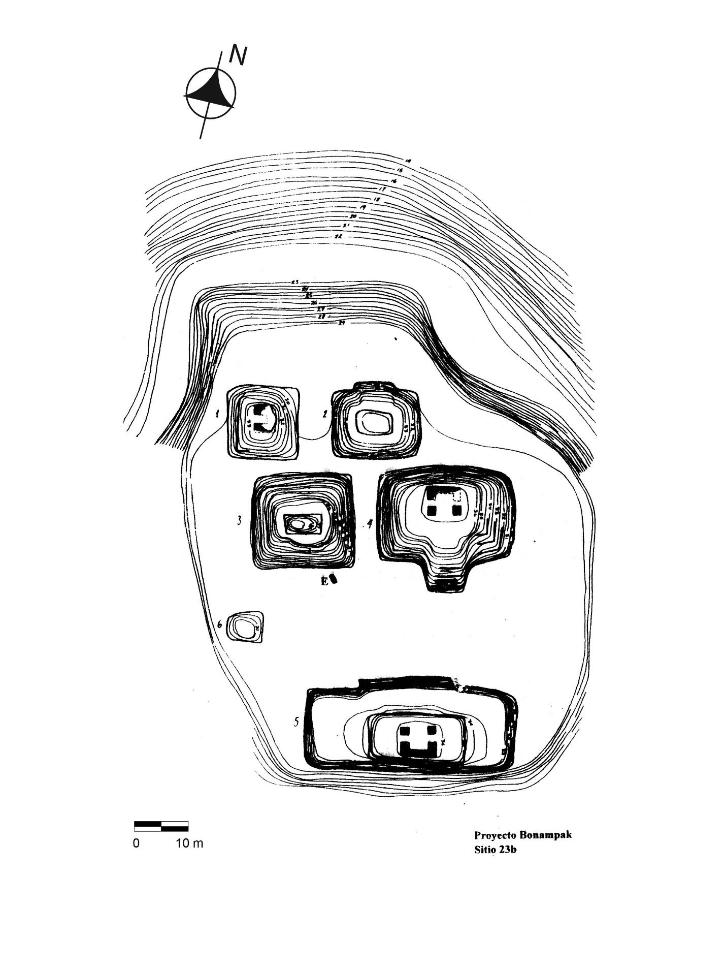 19 Extensión y delimitación del asentamiento prehispánico
