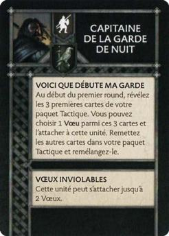 Capitaine de la Garde de Nuit (Verso) FR