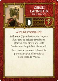 Cersei Lannister - Reine Régente (Verso) FR