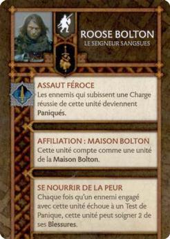 Roose Bolton - Le Seigneur Sangsues (Verso) FR