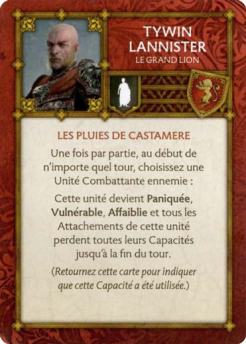 Tywin Lannister - Le Grand Lion (Verso) FR