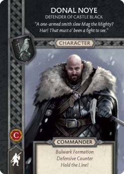 Donal Noye - Defender Of Castle Black (Recto) US