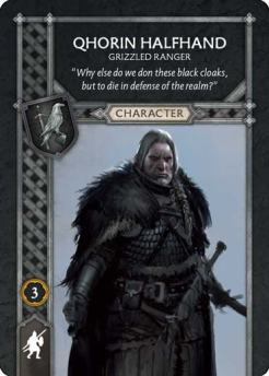 Qhorin Halfhand - Grizzled Ranger (Recto) US
