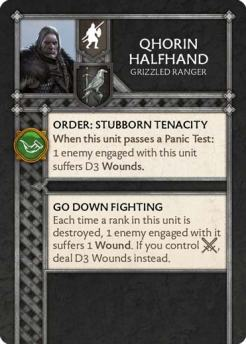 Qhorin Halfhand - Grizzled Ranger (Verso) US