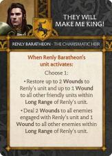 Renly Baratheon - The Charismatic Heir They Will Make Me King!