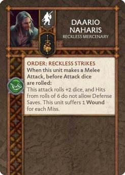 Daario Naharis - Reckless Mercenary (Verso) US