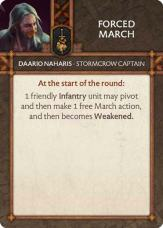 Daario Naharis - Stormcrow Captain Forced March