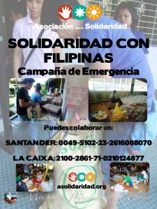 Cartel de la Campaña de Emergencia AS_Solidaridad con Filipinas