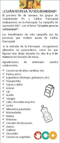 Flyer informativo Operación Kilo