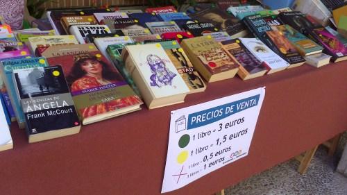 Libros en la Feria del Libro Solidario de San Gerardo (Foto: @MiguelAM29)
