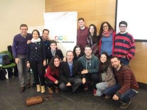 Jóvenes de Granada en el Curso de Voluntariado del 21-22 febrero 2015.