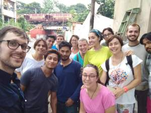 Algunos de los voluntarios de AS en la India 2017