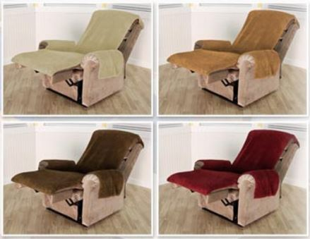 recliner chair covers japanese office snuggle up fleece soft cover with pockets