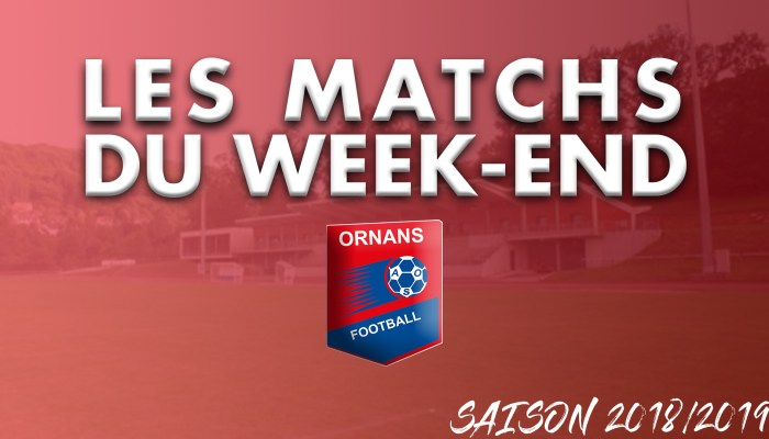 Visuel article des matchs du week-end de l'AS Ornans