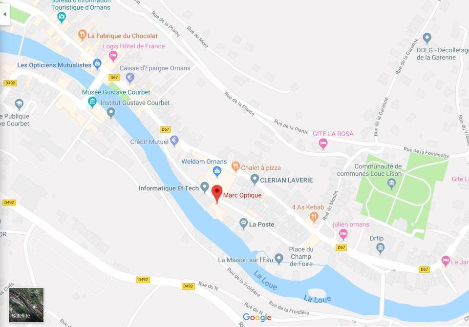 Map Marc Optique Ornans