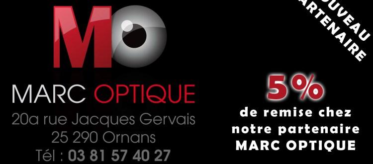 Visuel partenariat opticien Marc Optique Ornans