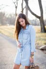 Chambray Shirt Dress Outfit