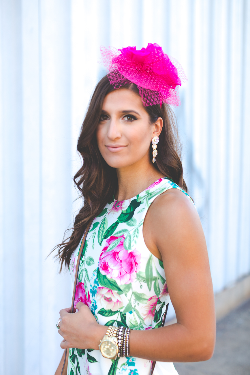 Kentucky Derby Outfit Floral Shift Dress A Southern Drawl