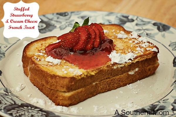 Stuffed Strawberry Cream Cheese French Toast