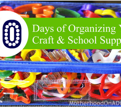 10 Ways to Organize Your Craft and School Supplies (Inexpensively)