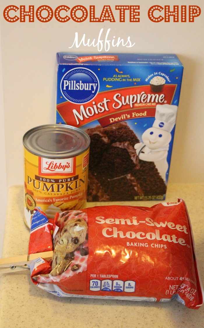 chocolate chip muffins ingredients