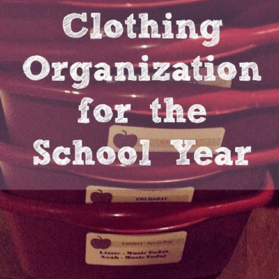 A Clothing Organization Idea for Back to School