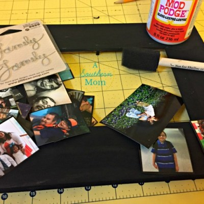 DIY Mod Podge Photo Collage Picture Frame