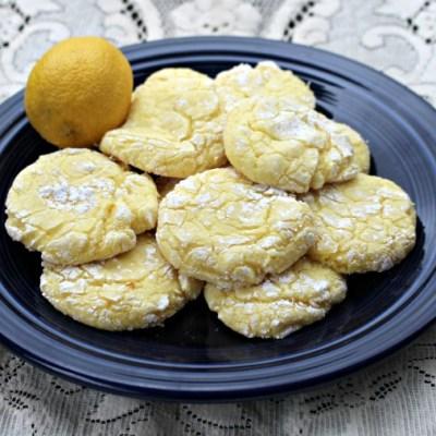 Powdered Sugar Lemon Cake Cookie Recipe