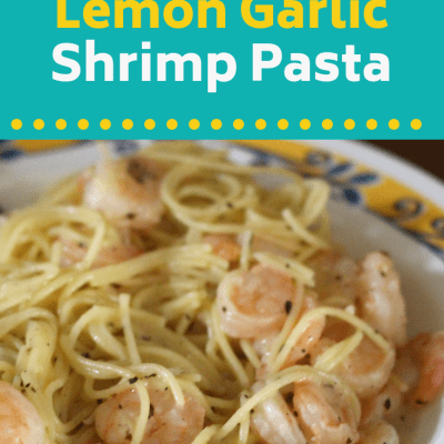 Easy Creamy Lemon Garlic Shrimp Pasta Recipe
