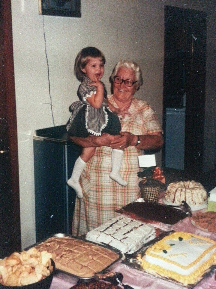 My great grandmother Rose and I.