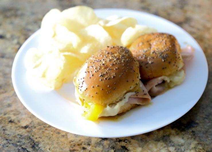hot ham and cheese sliders
