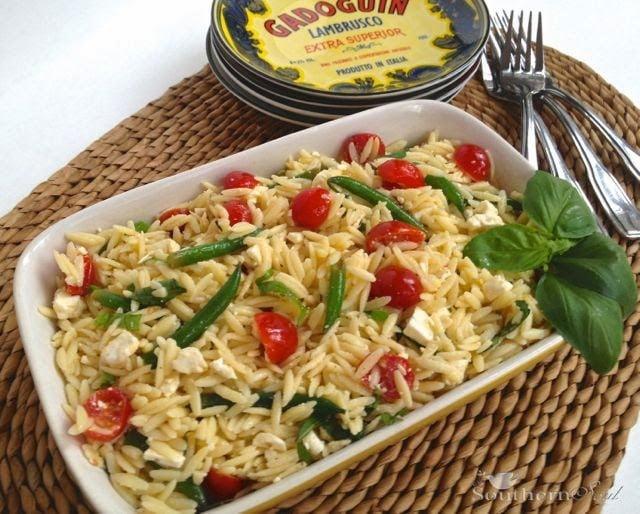 Orzo Pasta Salad with Fresh Vegetables & Feta