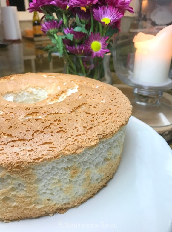 angel food cake platter