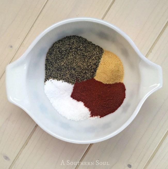 house seasoning with salt, pepper, garlic