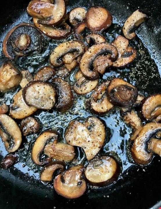 sautéed mushrooms with seasoning