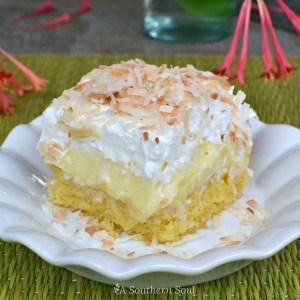 pineapple coconut poke cake best horz