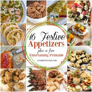 16 festive appetizer recipes