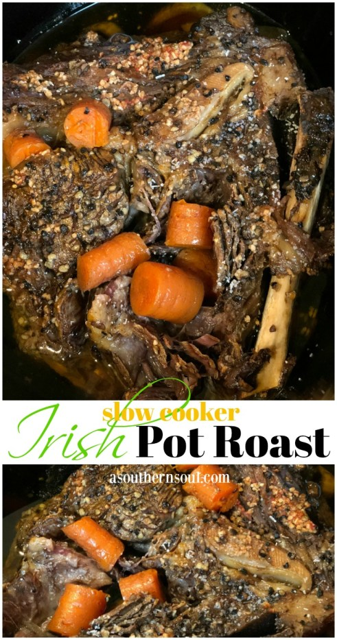 irish pot roast with carrots cooked in guinness