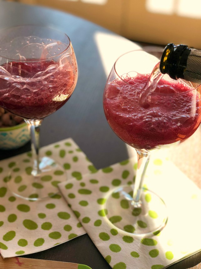proscesso and blood orange mimosas