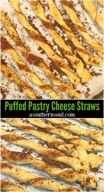 easy to make puffed pastry parmesan cheese straw twists